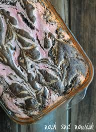 traybake of strawberry cheesecake brownie